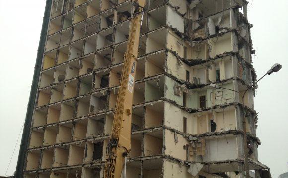 Rozbiórka budynku biurowego A i budynku F-1 przy ul. Woronicza 17 w Warszawie
