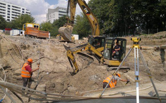 Wykonanie wykopów dla inwestycji zlokalizowanej przy ul. Al. Bohaterów Września w Warszawie
