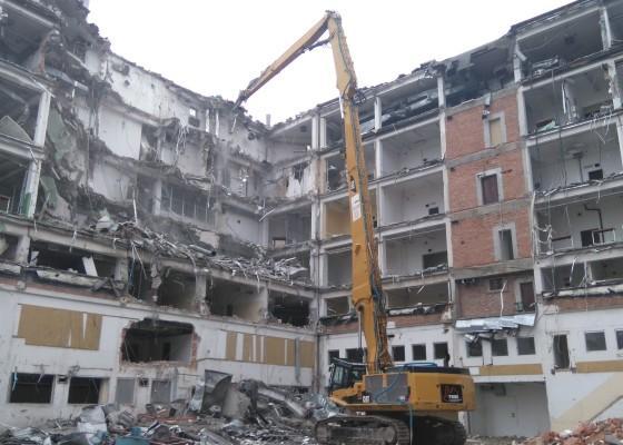 Rozbiórka budynku Mennicy Polskiej SA