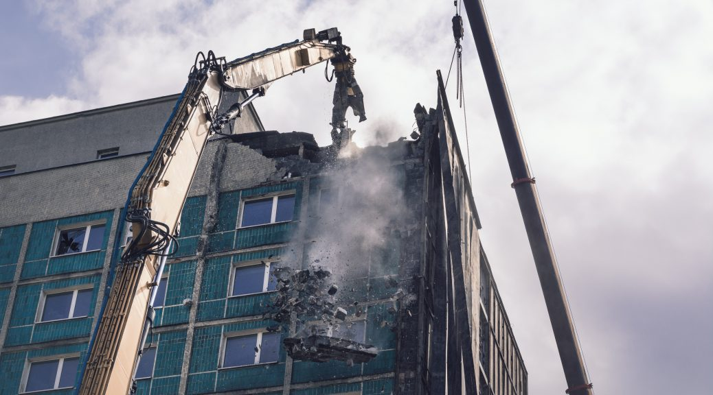 Rozbiórka Hotelu Silesia - Grupa TREE fot. Marek Locher