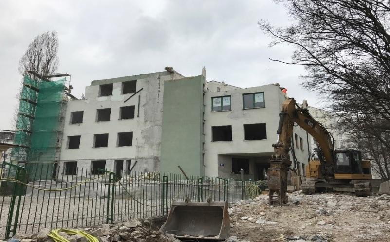 Rozbiórka budynku zlokalizowanego przy ul. Piaseczyńskiej 51 w Warszawie - Grupa TREE