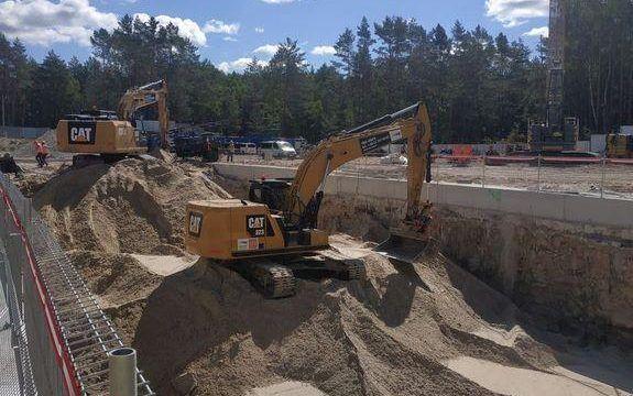 Prace ziemne w ramach budowy tunelu pod Świną między wyspami Uznam i Wolin w Świnoujściu